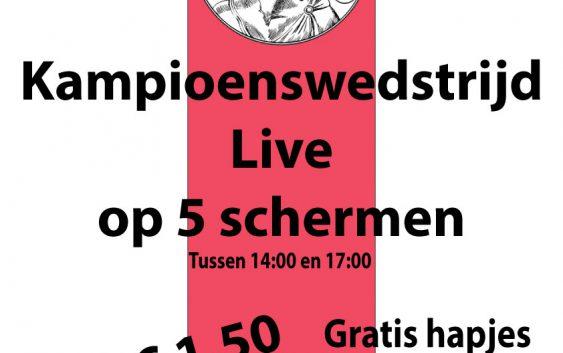 Kampioenswedstrijd AJAX live op 5 schermen