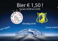 Ajax – Rostov dinsdag 16 augustus Bier € 1,50!
