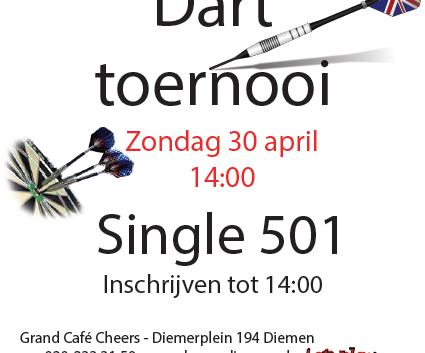 Darttoernooi Zondag 30 April! 14:00uur