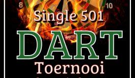 Single 501 Darttoernooi zondag 15 okt. 2017