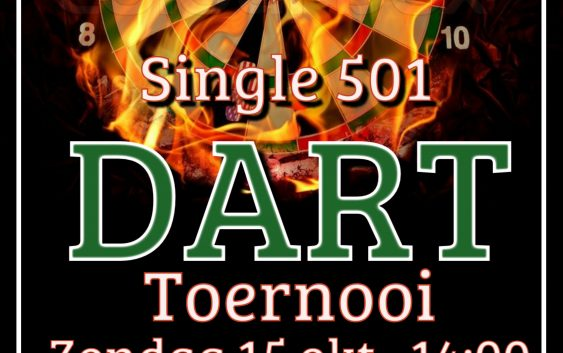 Single 501 Darttoernooi zondag 15 okt. 2017