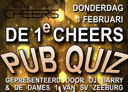 1e Cheers Pubquiz Donderdag 1 februari