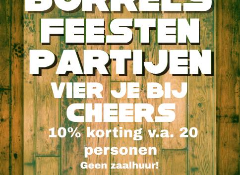 Borrels, feesten en partijen vier je bij Cheers