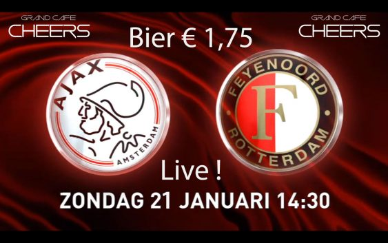 Ajax – Feyenoord Live! Bier € 1,75
