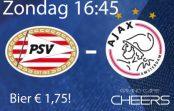 Psv – Ajax Zondag 15 april 16:45 Live! Bier € 1,75