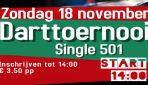 Darttoernooi zondag 18-11 aanvang 14:00
