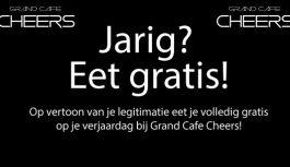Jarig? Eet gratis bij Cheers!