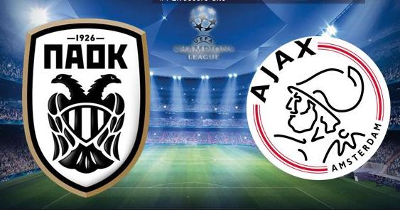 PAOK – Ajax Dinsdag 6 augustus 19:00