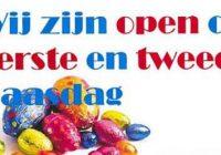 Open voor bezorging met Pasen!
